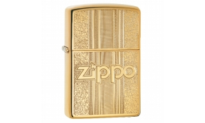 ZIPPO messing poliert Zippo and Pattern Design